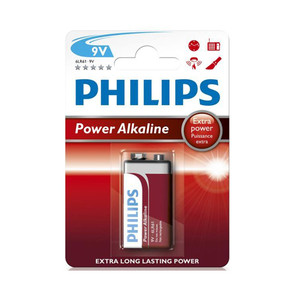 Bateria 6F22 Philips Longlife blister 1szt.